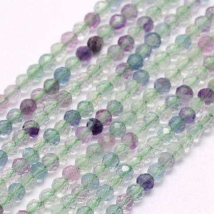 Natural Fluorite Beads StrandsG-F509-38-3mm-1