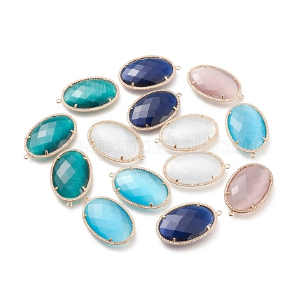 Faceted Cat Eye Pendants CE-L023-009-1