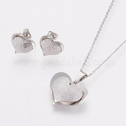Conjuntos de joyería de 304 acero inoxidableSJEW-P143-06P-1