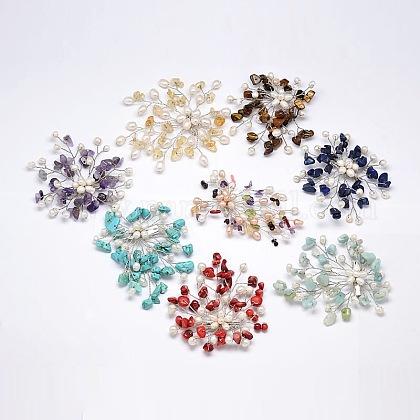 Цветок с драгоценными камнями broochsJEWB-E009-P19-1
