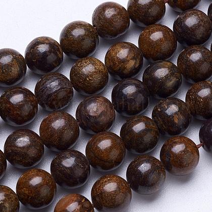 Natural Bronzite Beads StrandsG-D855-12-10mm-1