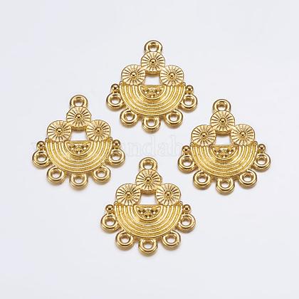 Base para conector de aleación de diamante de imitaciónEA10681Y-G-1