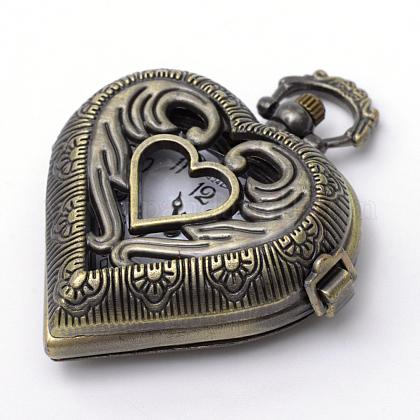 Cabezas de reloj de cuarzo de aleación de zinc de la vendimia corazón cepilladoWACH-R008-14-1
