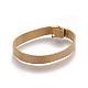 Stainless Iron Mesh Chain Bracelet MakingMAK-E667-01G-1