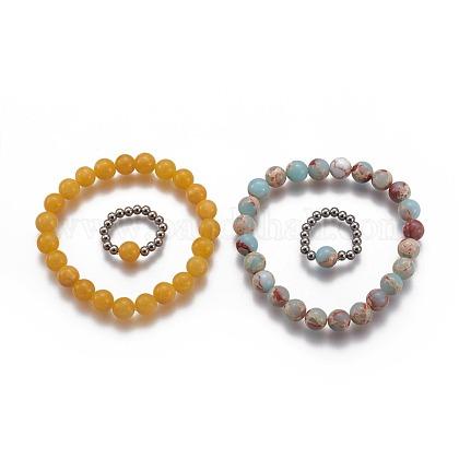 Conjuntos de joyas naturales y sintéticas de piedra mixtaSJEW-H584-21-1