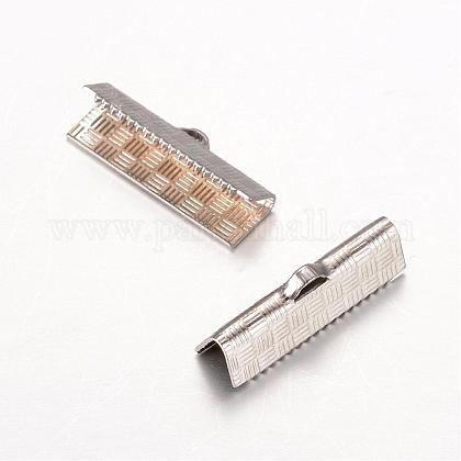 Rectangle 304 embouts à sertir ruban inoxSTAS-L183-06-1