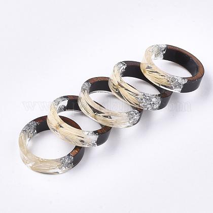 Resina epoxica & anillos de madera de ébanoRJEW-S043-01D-05-1
