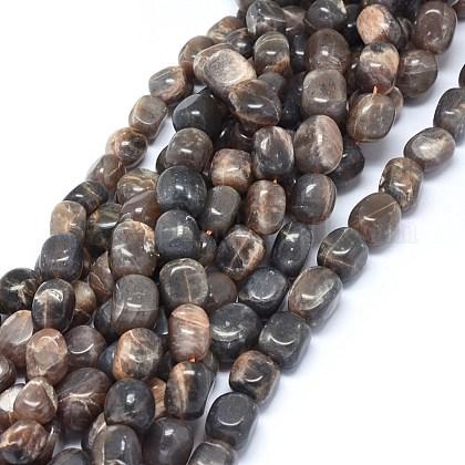 Natural Black Sunstone Beads StrandsG-O173-079A-1
