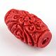 Perles de cinabre sculptéesCARL-Q004-76C-4