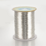 Copper Jewelry Wire, Silver Color Plated, 20 Gauge, 0.8mm; 160m/roll