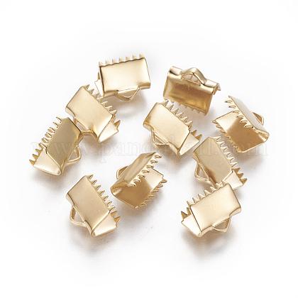 304ステンレス鋼リボンカシメエンドパーツSTAS-E471-05G-G-1
