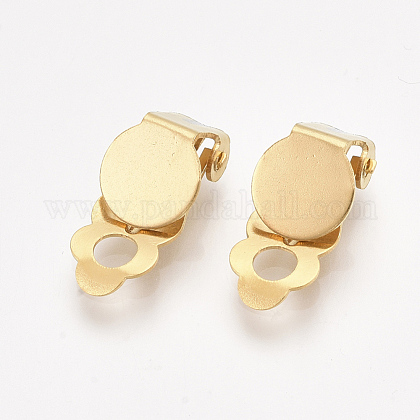 304 Stainless Steel Clip-on Earring FindingsX-STAS-T045-33A-G-1