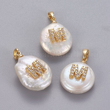 Natural Cultured Freshwater Pearl Pendants KK-L187-A-01M-1