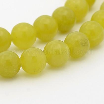 Естественно оливин круглый шарик нитиG-P070-32-10mm-1