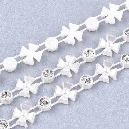 ABS Plastic Imitation Pearl Beaded Trim Garland StrandAJEW-S073-05-1