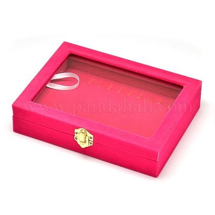 Wooden Rectangle Jewelry BoxesOBOX-L001-05C-1