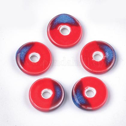 Abalorios de porcelana hechas a manoPORC-S498-54F-1