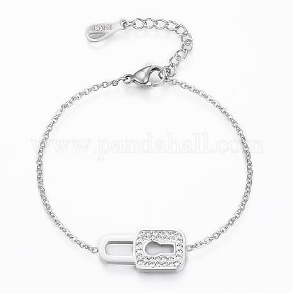 304 Stainless Steel Link BraceletsBJEW-H521-10P-1