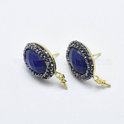 Natural Lapis Lazuli Stud Earring FindingsRB-L031-20G-1