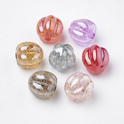 Transparent Crackle Style Acrylic Beads X-MACR-S268-G-1