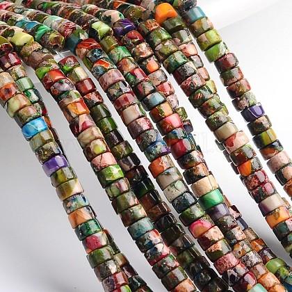 Dyed & Heated Natural Imperial Jasper Beads StrandsG-M276-06-B-1