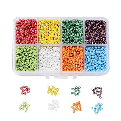 1 Box 8/0 Glass Seed Beads Round  Loose Spacer BeadsSEED-X0050-3mm-04-1