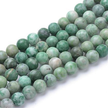 Qinghai natural de abalorios de jade hebrasG-T055-8mm-16-1