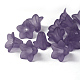 Purple Frosted Transparent Acrylic Flower BeadsX-PLF018-15
