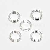 Alloy Linking Rings, Circle Frames, Lead Free & Cadmium Free, Silver Color Plated, 8x1.2mm, Hole: 5.5mm