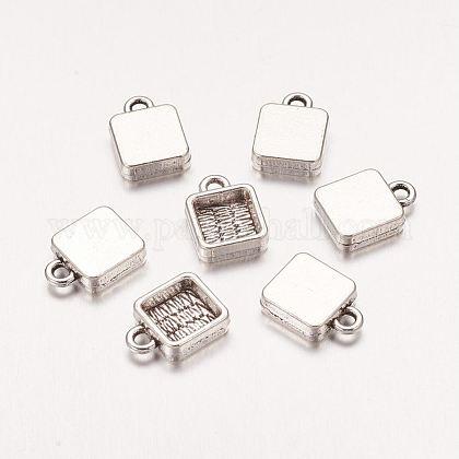 Rectangle Metal Alloy Pendant Cabochon SettingsX-PALLOY-AD-77565-AS-1