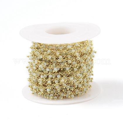 Cadenas de abalorios de vidrio hecho a manoCHC-K008-B01-1
