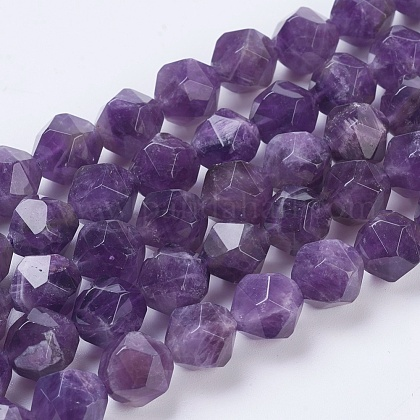 8,M-7FGS82 5-7.5 mm Amethyst Rondelle Beads,Amethyst Beads,Sold by Strand Natural Amethyst Faceted Beads
