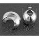 Latón chafas cubiertas, de color platino, tamaño: aproximamente 3 mm de diámetro, agujero: 1.2~1.5 mm