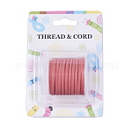 3x1.5mm Flat Faux Suede Cord, Faux Suede Lace, Salmon, about 5m/roll