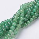 Natural Green Aventurine Beads Strands, Round, 6mm, Hole: 0.8mm, 15~16