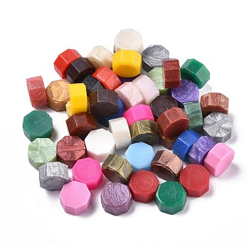 Sealing Wax Particles, for Retro Seal Stamp, Octagon, Mixed Color, 9mm; about 1500pcs/500g