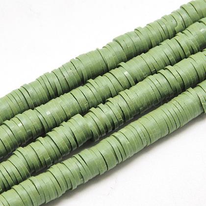 Abalorios de arcilla polimérica hechos a manoCLAY-R067-6.0mm-43-1
