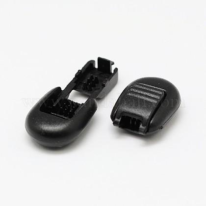 Teñido de plástico ambiental del extremo del cordón bloquea topes de tope para cuerda de paracaídas de ropa deportiva accesorios de la mochila de la ropaX-FIND-E005-11B-1