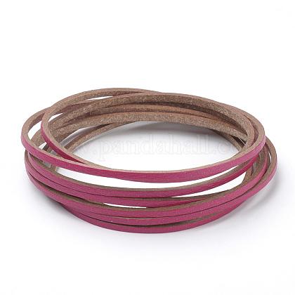 Cuerdas de cuero de imitación de una sola cara planasLC-T002-09-22-1