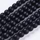 Cuentas sintéticas piedras negras hebrasG-R345-6mm-38-1-1