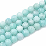 Natural Amazonite Beads Strands, Round, 8~9mm, Hole: 1mm; about 45~48pcs/strand, 15.7