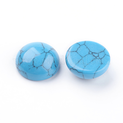 dutchiesdelights blue REAL turquoise cabochons 22-28mm- flat back gemstone dutchies delights