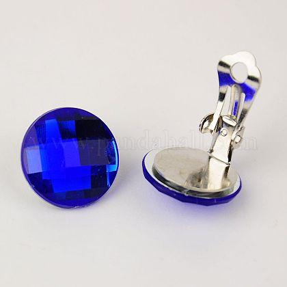 Brass Clip-on EarringsEJEW-JE00851-04-1
