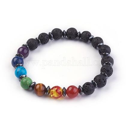 Natural/Synthetic Mixed Stone Stretch BraceletsBJEW-JB03945-01-1