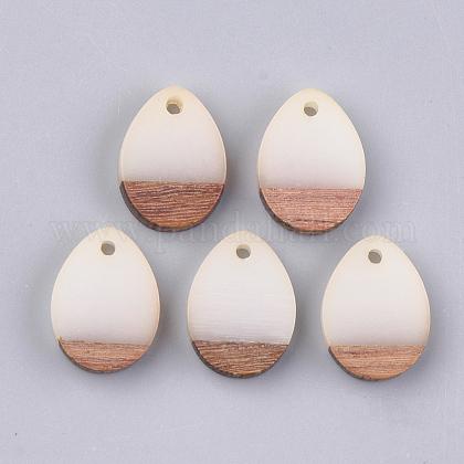 Colgantes de resina y madera de nogalRESI-S358-15E-1