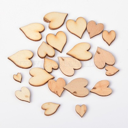 Heart Wood CabochonsWOOD-D011-02-1