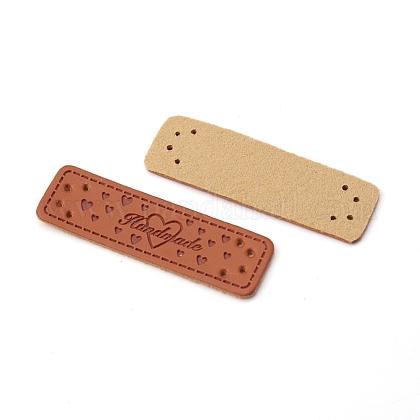 Etiquetas de cuero puDIY-WH0161-20B-1