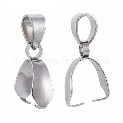 304 Stainless Steel Pendant Pinch BailsX-STAS-E437-28P-1