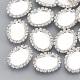真鍮シャンクボタンカボションのセッティングX-RB-Q212-01-1