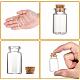 コルク付き透明ガラスボトルウィッシングボトルガラス瓶X-AJEW-H004-7-4